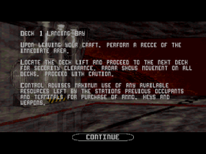 alienbreed obliteration wii level intro screenshot